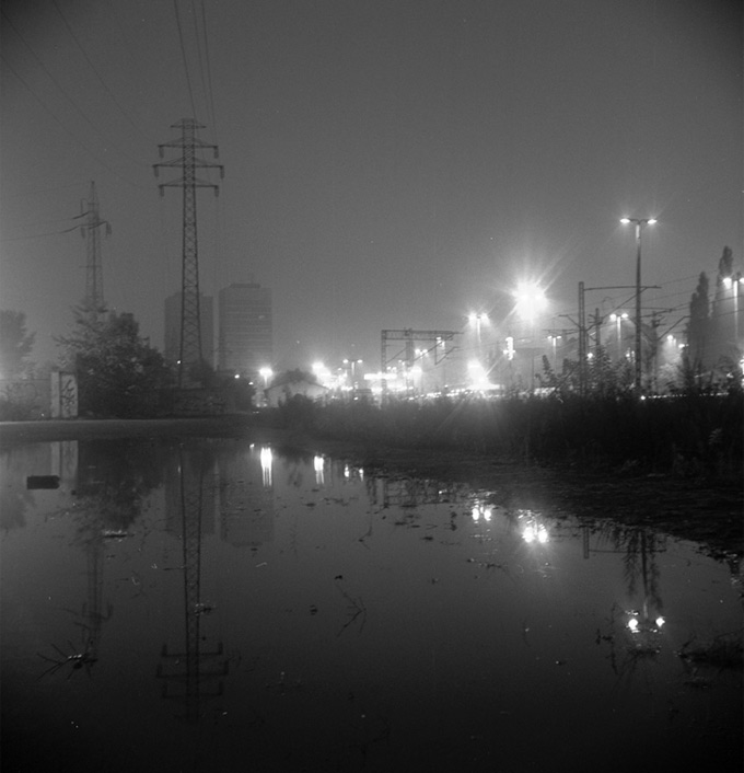 Łódzkie WTC  nocą