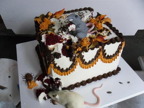 Rat Halloween Cake