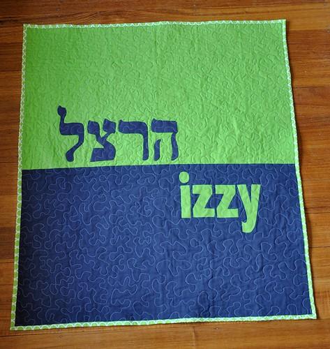 Izzy's quilt - back