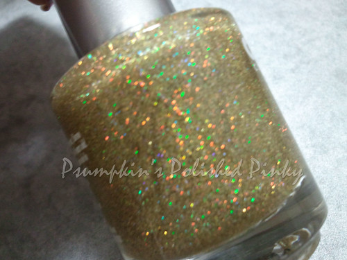 Claire's Gold Glitter Top Coat