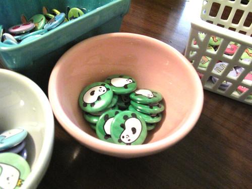 Panda Bean Buttons.