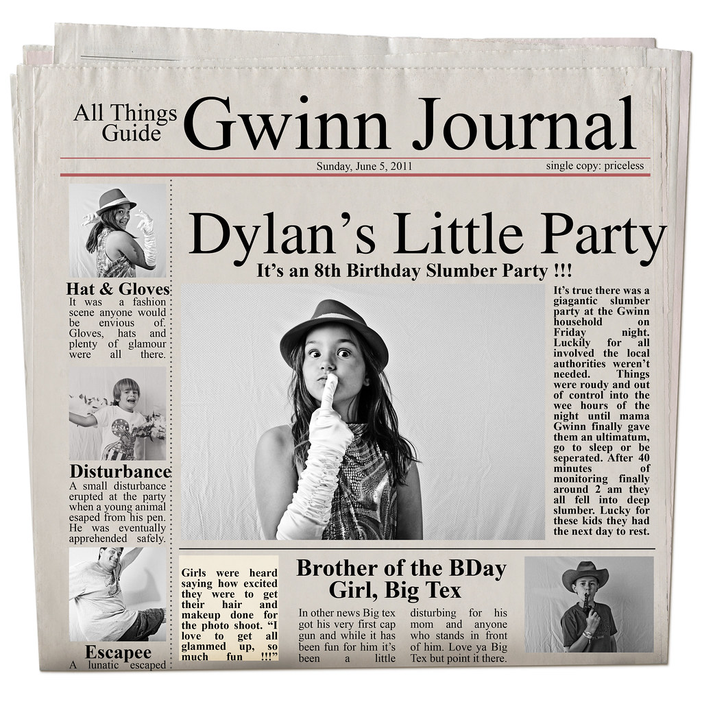 Newspaper Dylan
