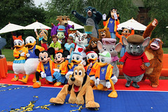 The cast of Disney's All Star Basketball Game