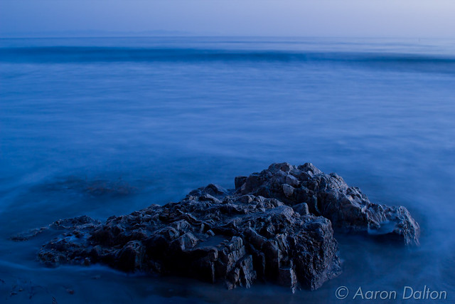 Rock in Fluid Waves by Moonlight