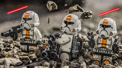 Republic Troopers Holding the Line! (EternalSlothman) Tags: green storm trooper star wars war lego outdoors clone troopers first order blasters afol minifigs minifigures bricks blocks canon toy toys force legos t3i republic