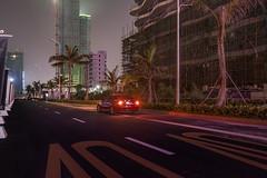 SenSen's car, waiting for me (Markus Lehr) Tags: tropicalstreet light urbanspace constructionwork manmadelandscape china markuslehr nightshot longexposure