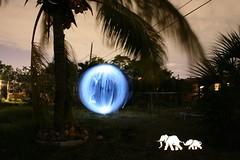only an elephant instinctively marches towards (BlaisOne) Tags: longexposure light selfportrait lightpainting elephant night canon dark painting twilight paint nightshot florida orb nightime fortlauderdale nightshots junkie broward weeeeeeeeee lapp straightoutofthecamera glowsinthedark photographylight sooc lightartperformancephotography toddblaisdell blaisone