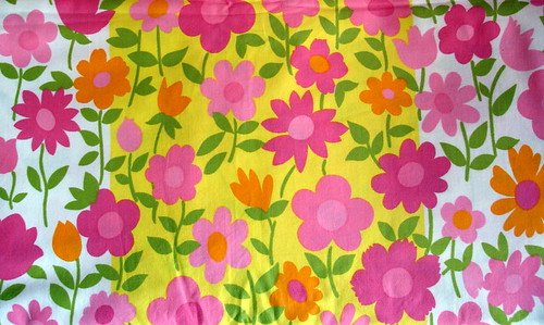 waverly flower fabric with pink flowers