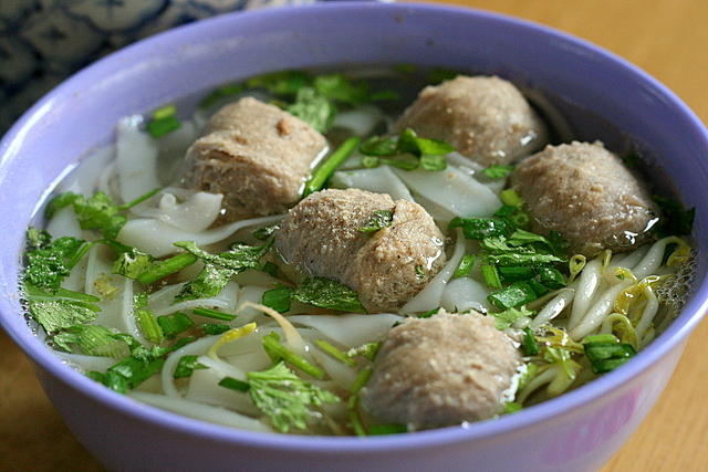 Beef Ball Kway Teow Soup