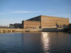 Le palais royal dans le soleil couchant
