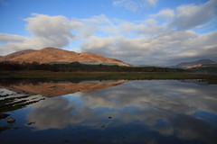 Loch Eil Reflections. (Gordie Broon.) Tags: seascape mountains nature water clouds reflections geotagged photography scotland spring scenery alba scenic escocia hills explore schottland ardgour ecosse locheil scottishhighlands westernhighlands explored canoneos40d gordiebroon