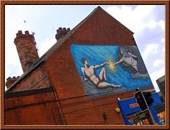 Michelangelo in Sherwood (Dun.can) Tags: street nottingham building adam art shop painting mural michelangelo nottinghamshire redbrick sherwood winchesterstreet