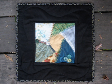 First Crazy Mini-Quilt