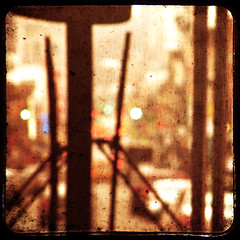 on the bus, in the rain (Idle Type) Tags: nyc orange brown newyork black bus texture rain yellow brooklyn canon gold blurry smithstreet powershot mta gothamist masstransit windshield wipers curbed carrollgardens sx200 ttv b71 billionstrang sx200is canonpowershotsx200is