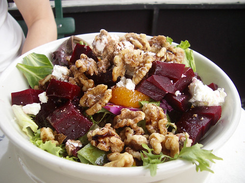 goat cheese/beet salad @ veselka