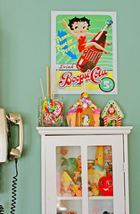 Kitchen (boopsie.daisy) Tags: house colorful phone candy cabinet gingerbread betty lollipops boop curio boopsicola