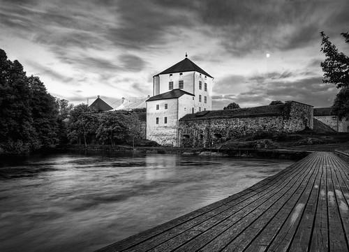 Nyköpingshus Castle B&W