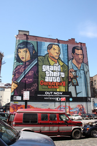 Grand Theft Auto sign near Canal Street