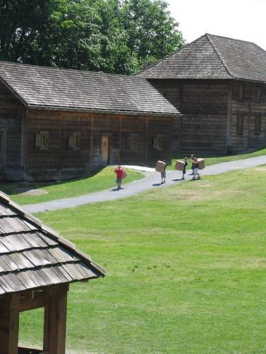 Fort Langley - Kids doing Activities