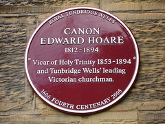 Photo of Edward Hoare claret plaque