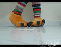 My orange monster feet (Jack Venancio) Tags: de laranja ps minhas monstro pantufas