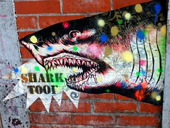 West Village Street Art (LoisInWonderland) Tags: newyorkcity streetart graffiti sharktoof