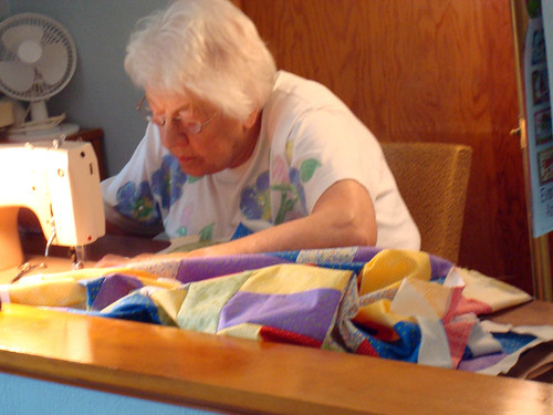 Gramma sewing 2