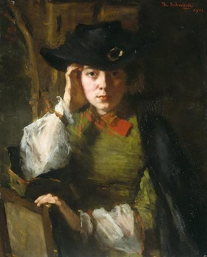 Portrait of Lizzie Ansingh. Thérèse Schwartze.