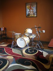 Drum set in back room Star Co. Round Rock TX