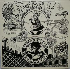 "Blatz/Filth, ""The Shit Split"" (back cover) (J.W.Doran) Tags: lookout lp filth gilman blatz eastbaypunk shitsplit"