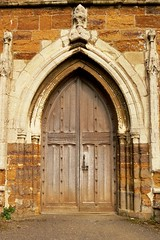 West door, St Andrew - Lyddington