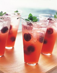 Cherry Mojitos for a Crowd