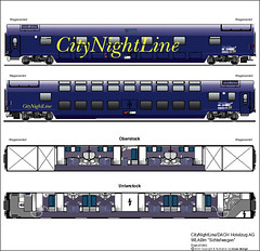 Train Chartering - Carriage plan Euronight Sleeper (Schlafwagen WLABm)