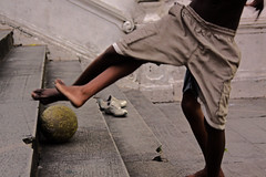 Street Soccer (irre101) Tags: street brazil kids ball children photo football amazing soccer group bahia barefoot salvador futbol the streetsoccer aplusphoto
