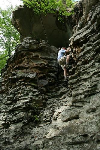Chad climbing at Rocktown