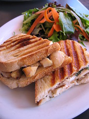 Smoked chicken panino