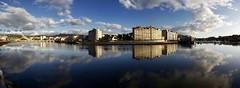 Pontevedra. (benitojuncal) Tags: santiago panorama rio club clouds river puente barca barco ponte galicia nubes pontevedra reflejos nautico burgo tirantes baixas poio lerez riass