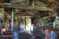 THE CAVE : Crazy Cabin (tim heffernan) Tags: new summer usa bar photoshop geotagged photography photo crazy fishing cabin image interior rustic hudsonriver hdr backwater tjh finearts barscene digitalarts boatslip huntingcabin interiorhdr timheffernan