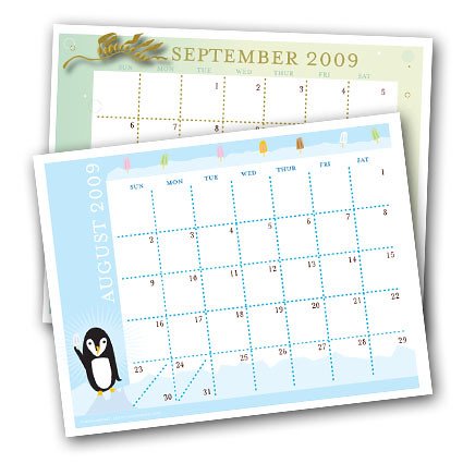 August and September calendars