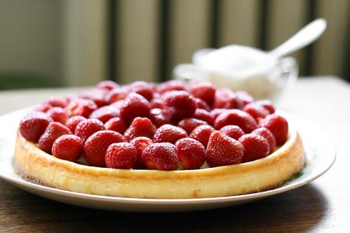 Toorjuustukook maasikatega