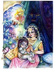 Krishna and Putana - ISKCON desire tree (ISKCON Desire Tree) Tags: demon krishna radha vrndavana balaram iskcon putana devaki radharani kamsa bakasura aghasura