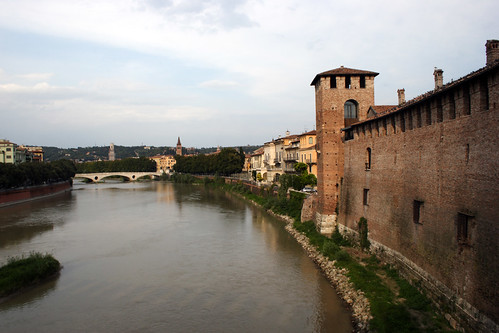 View from Ponte scaligero: Adige & Castelvecchio