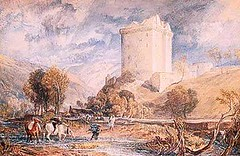Borthwick Castle - Turner 1818