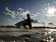 Into the Surf (James Loesch) Tags: canon newjersey waves surfing shore seasidepark underwaterhousing g10 obramaestra