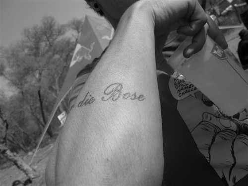 liefde tattoo. the full tattoo reads: Liefde