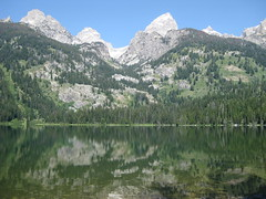 bradley or taggart lake in the grand tetons. i can't remember. (CatherineA) Tags: lake mountains wyoming tetons