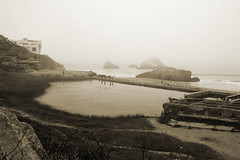 Sutro Baths (nicholsphotos) Tags: ocean sanfrancisco california abandoned fog ruins decay sutrobaths pacificcoast cliffhouse nicholsphotos