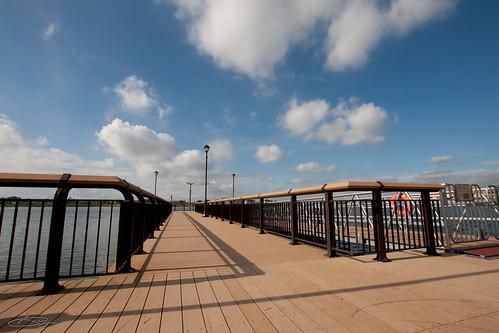 レイクタウンのカヌー桟橋