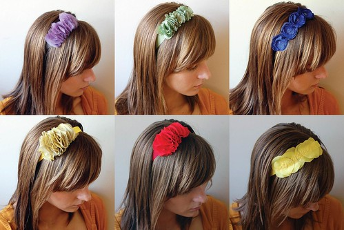 headbands collage
