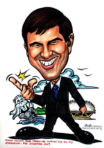 Caricature for GC Asia Dental - 4